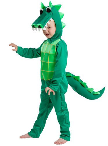 KIDS CHILDRENS CHILD BOYS DELUXE DINOSAUR ZIP UP FANCY DRESS HALLOWEEN COSTUME