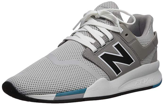 Amazon.com | New Balance Men's 247v2 Sneaker, rain Cloud/Black ...