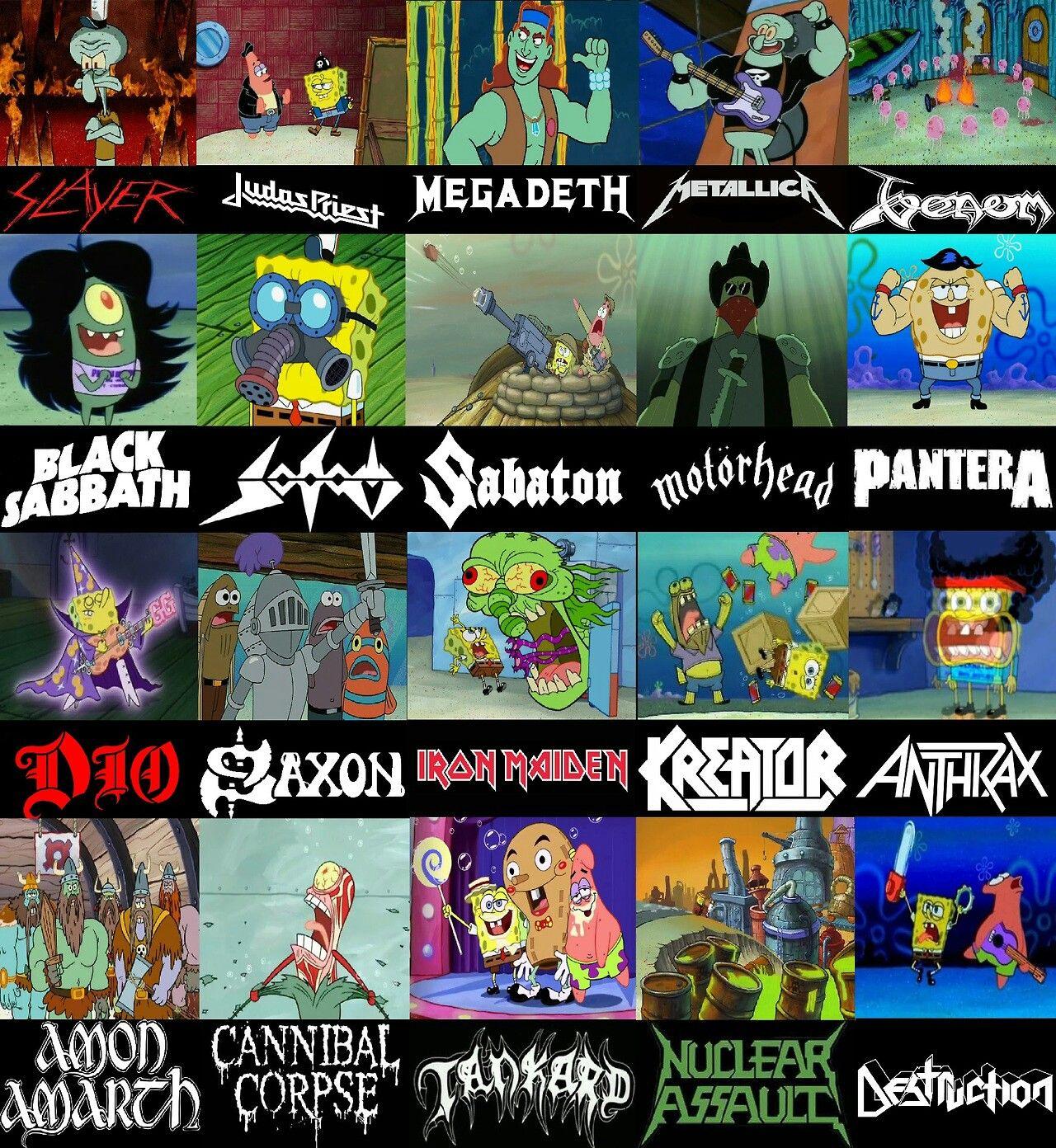 Metal as told by spongebob