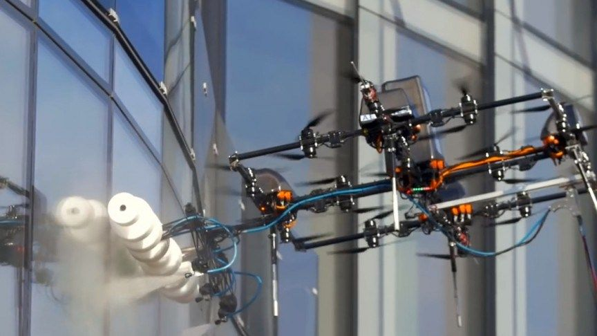 These Window Cleaning Drones Make Cleaning Skyscrapers Look Easy