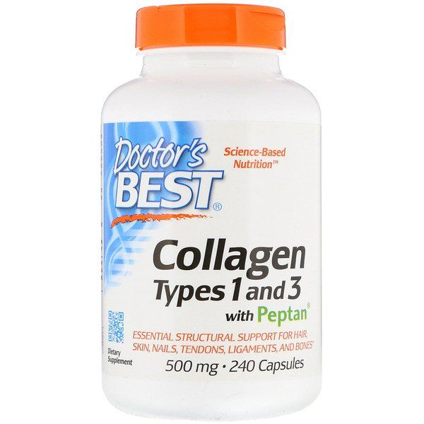 Doctor S Best Collagen Types 1 3 With Peptan 500 Mg 240 Capsules