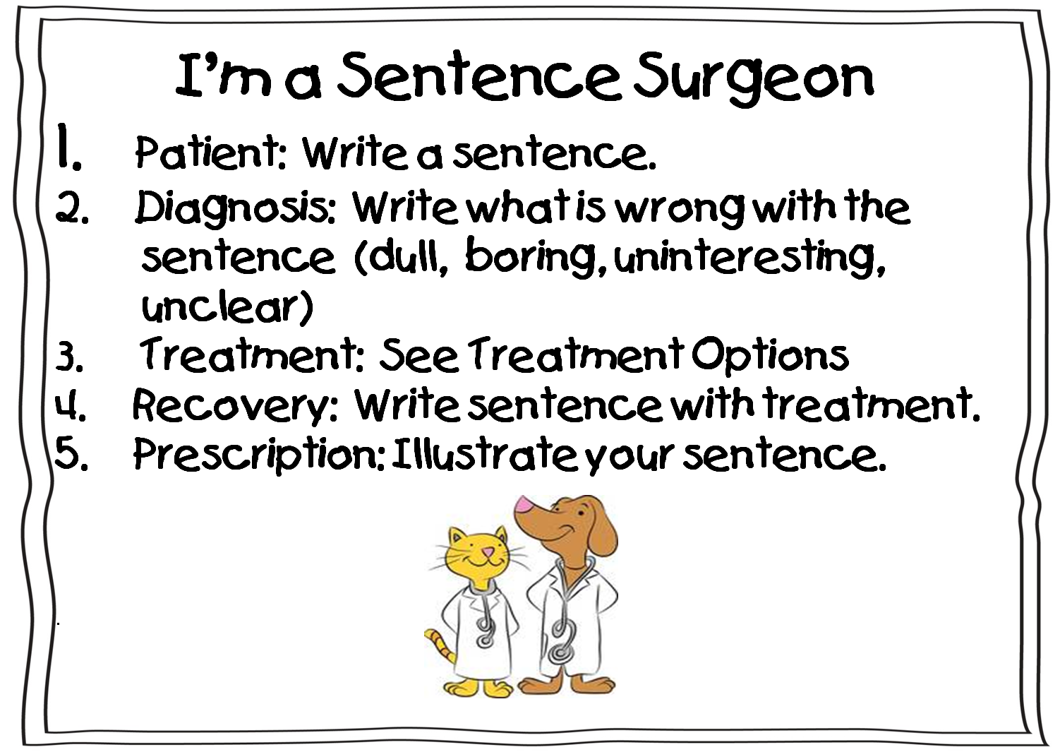 Sentence Surgeon Game: A cute game of pretend that