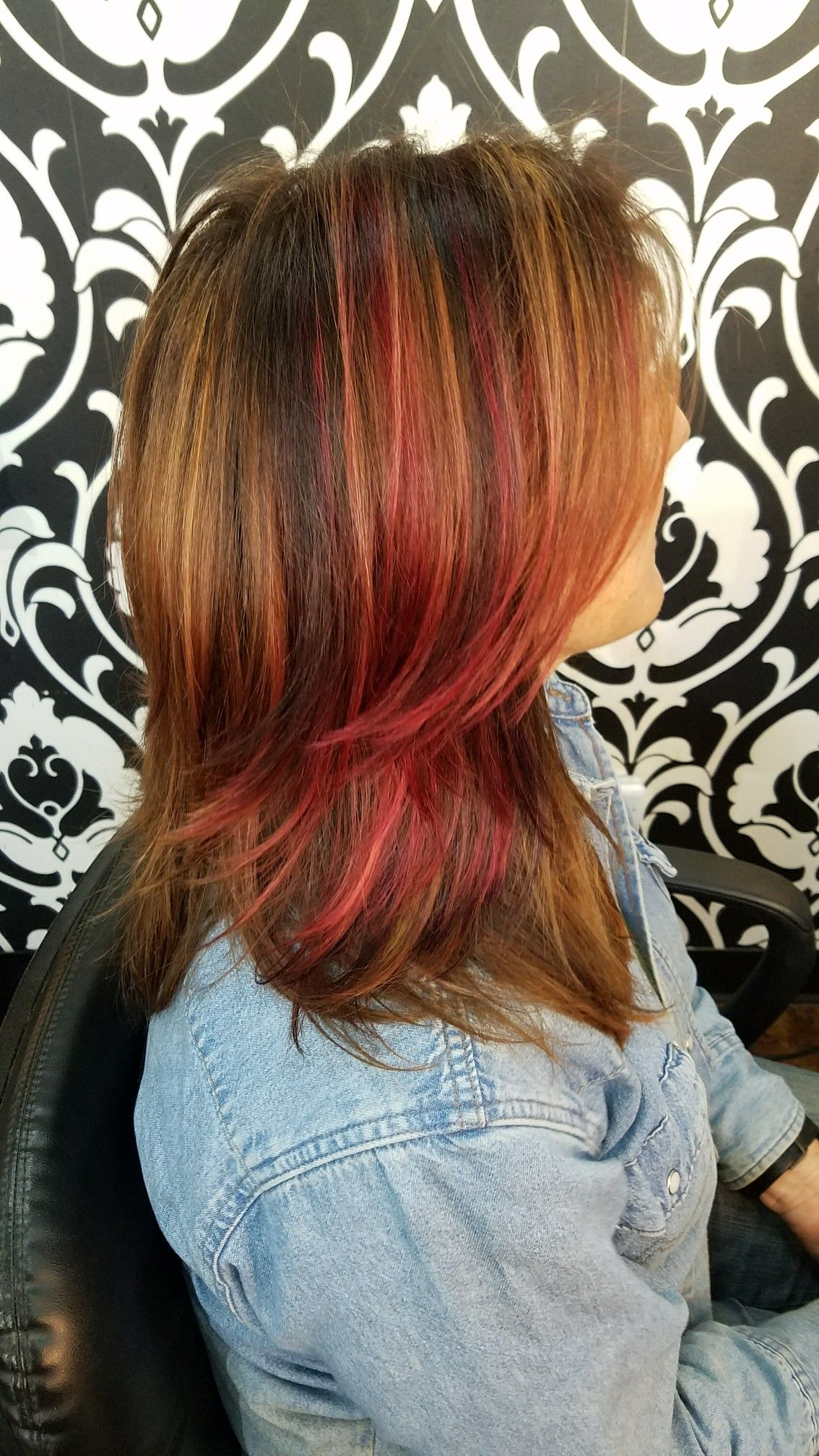 Multi color hair highlights choice image hair coloring ideas beautiful red magenta and purple highlights multicolor hair beautiful red magenta and purple highlights multicolor hair pmusecretfo Gallery