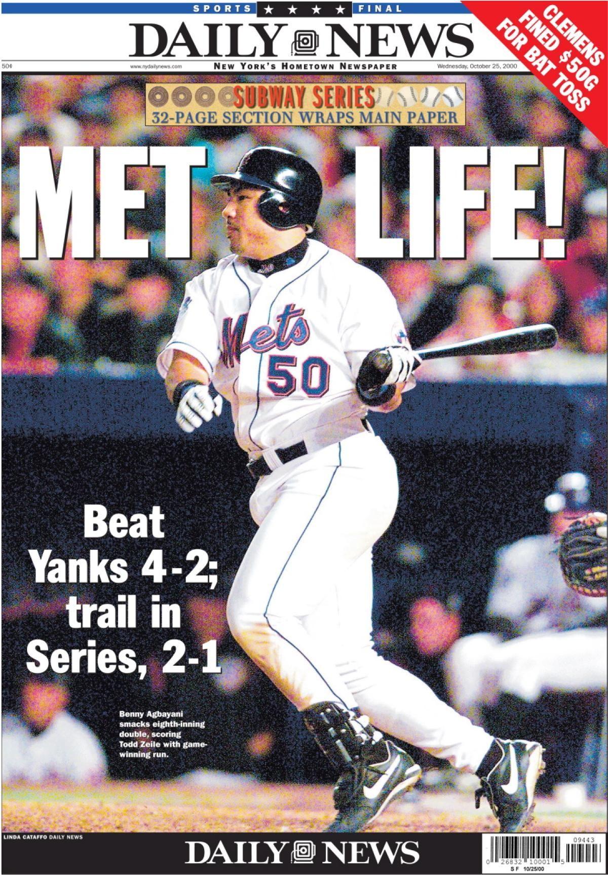2000 World Series Game 3 Mets Vs Yankees Ny Yankees Ny Mets Mets