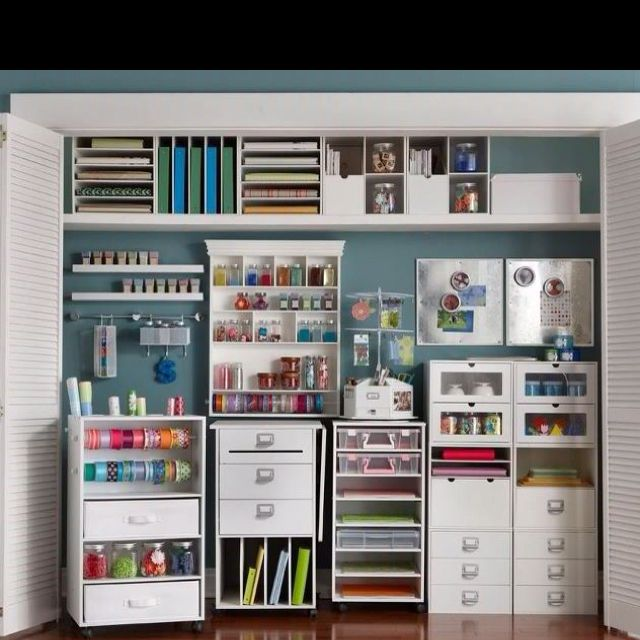Awesome Perfect Crafters Closet!