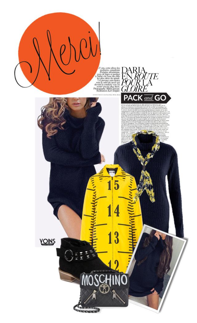 """""""Pack and Go: Winter Getaway"""" by eclectic-chic ❤ liked on Polyvore featuring WALL, Moschino, Packandgo, winterstyle and yoins"""