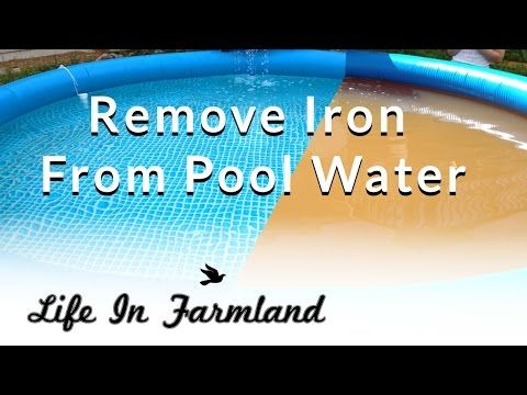 How to get iron out of pool water  Effective and cheap