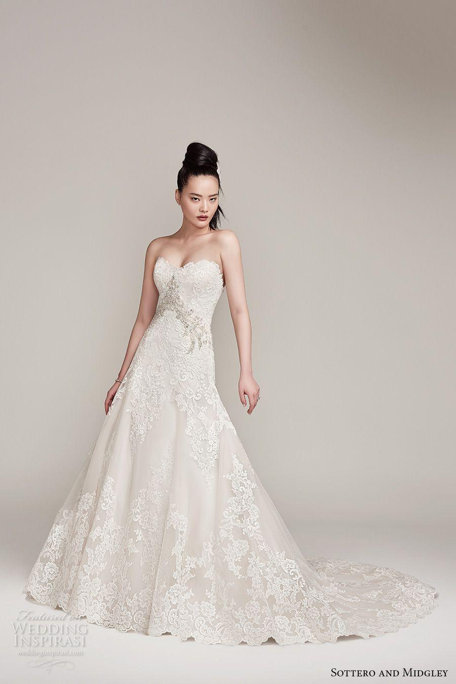sottero midgley fall 2016 bridal strapless sweetheart neckline full…