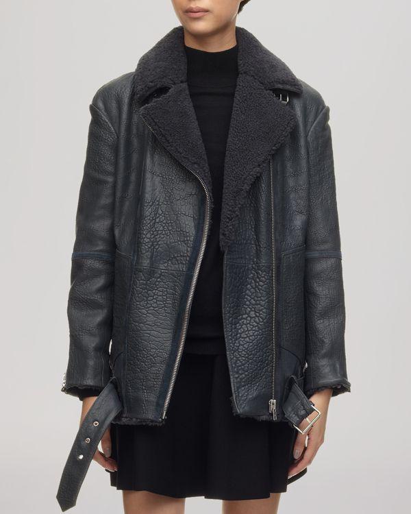 Whistles Jacket - Daria Bubbleskin Leather