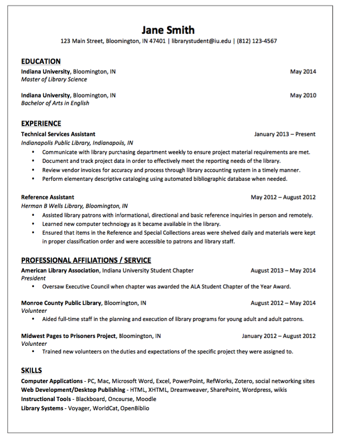 Sample Resume for Technical Service Assistant http