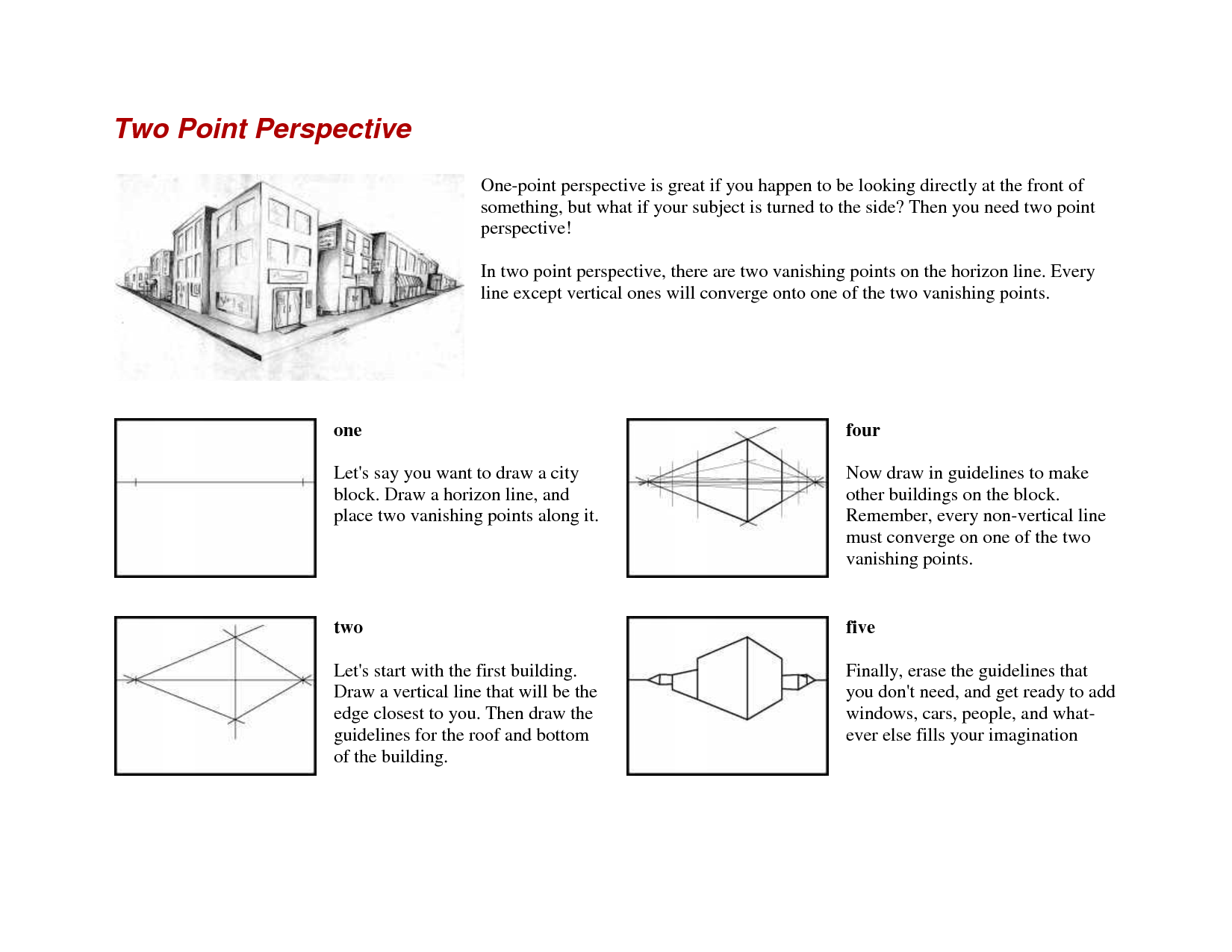 Uncategorized One Point Perspective Worksheet 2 point perspective handout google search art pinterest onepoint worksheets