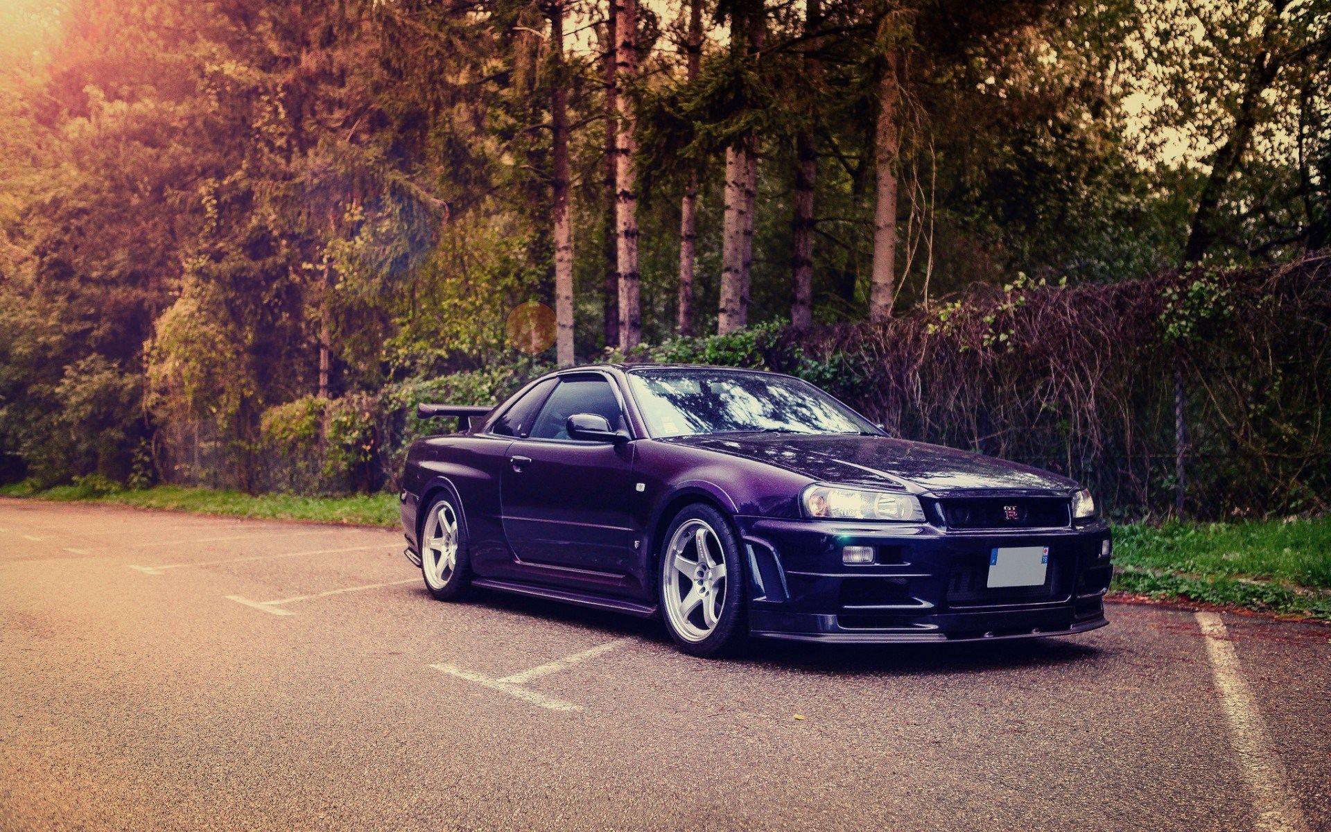 Midnight Purple Nissan Skyline R34 GTR Nissan gtr
