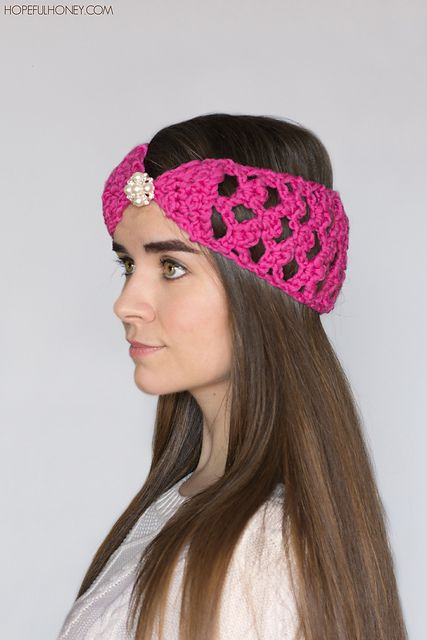 Crochet Patterns Galore Lacy Lattice Headband Free Headband