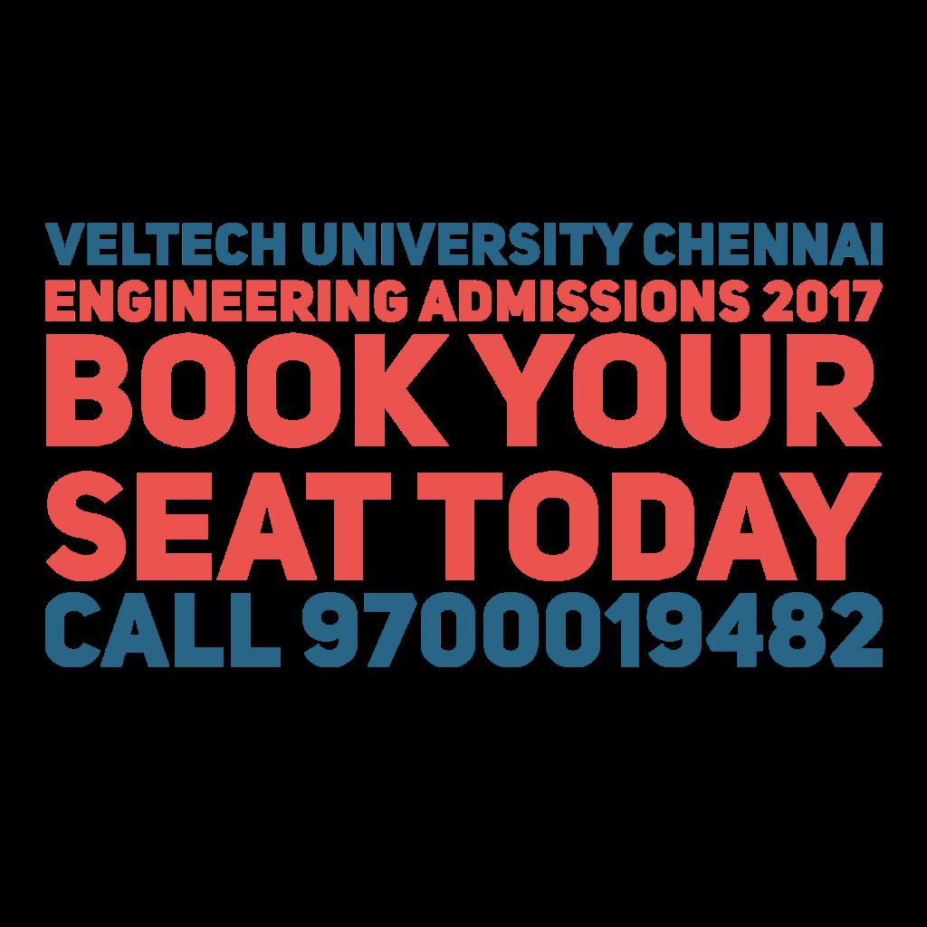 Veltech University Admissions 2017 University Admissions Admissions University