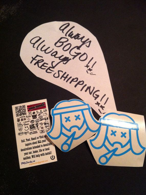 Free shipping worldwide 2 decals hippie bearded by dngldecals https www etsy