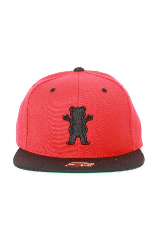 a1022822 Grizzly, Puff Bear Starter Snap-Back Hat - Red/Black | snap backs ...