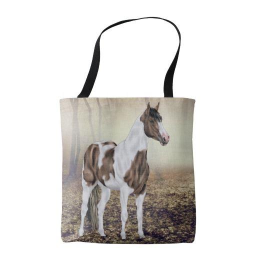 Buckskin Tobiano Paint Horse Tote Bag