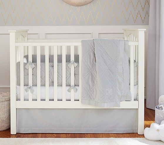 Pbkids Kendall Convertible Crib Simply White Low Profile Size Available