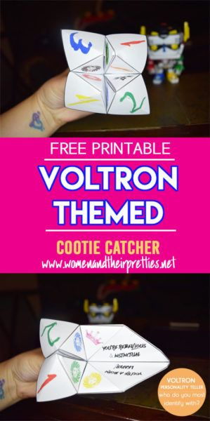 Nothing screams nostalgia like cootie catchers and Voltron! Grab this free…