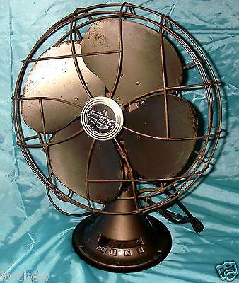 Vintage Emerson Electric Model 77646 Sl 3 Speed Oscillating Fan Works Oscillating Fans Emerson Electric Fan