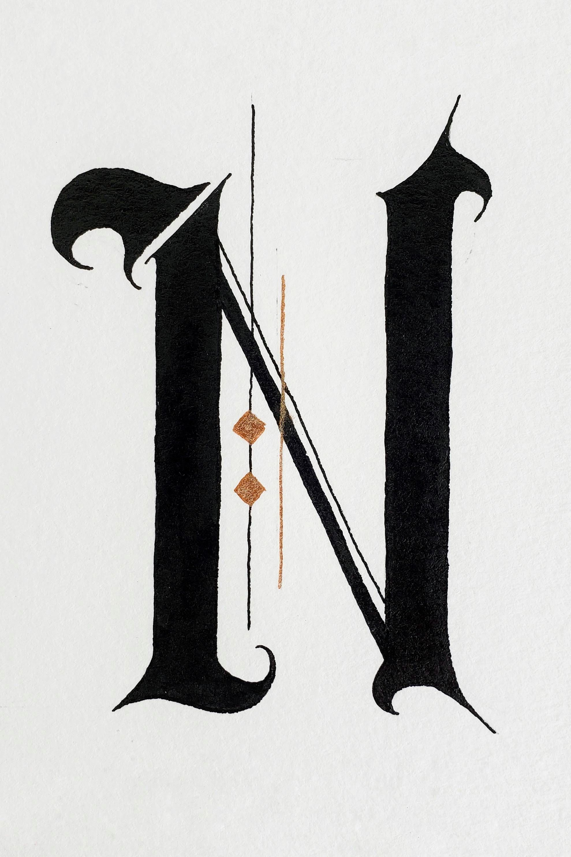Letter N In Different Fonts : letter, different, fonts, Letter, Things, Night, Style, Study, Gothic, Lettering,, Design,, Lettering, Alphabet, Fonts