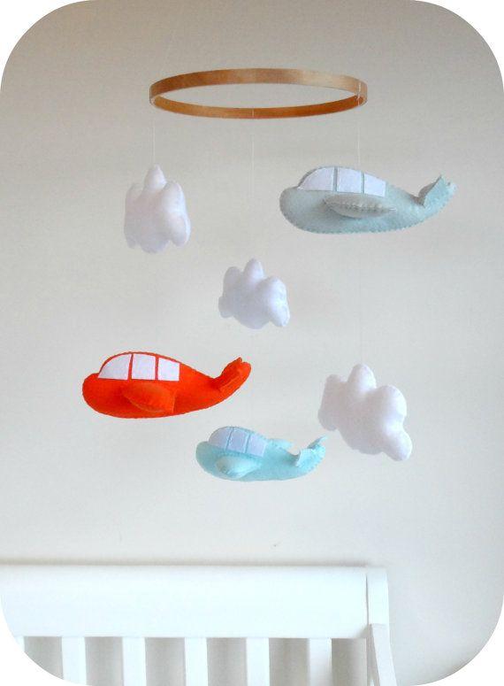 Baby Mobile Pattern   Airplane Nursery Mobile   Felt Pattern Cricut SVG