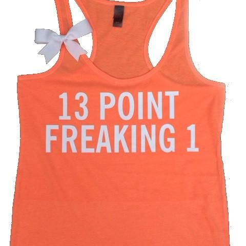 13 point freaking 1 - Ruffles with Love - Half Marathon Tank - Fitness Tank   A work-out tank top for the half marathon runners! A fun shirt to motivate you whi