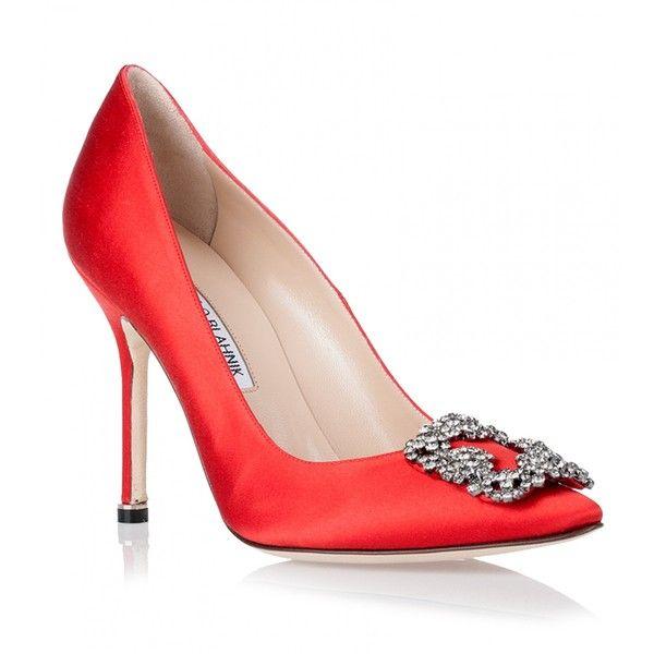 Economic Popular Manolo Blahnik Satin Hangisi Pumps Heels 504247685 Womens Manolo Blahnik Womens Heels