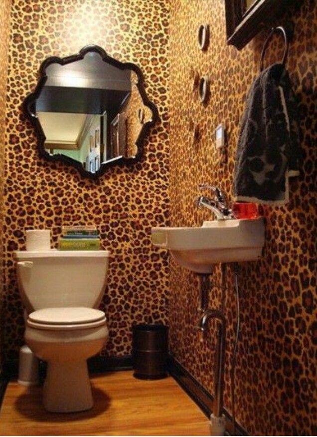 Leopard Bathroom Leopard print bathroom, Leopard print