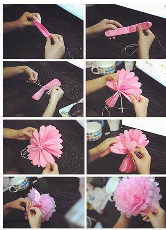 Pack Of 9 Mixed Gold Black White Tissue Paper Pom Poms Flower Ball For Weddings Birthday Bridal Mestieri Fai Da Te Creazioni Con Fiori Di Carta Idee Fai Da Te