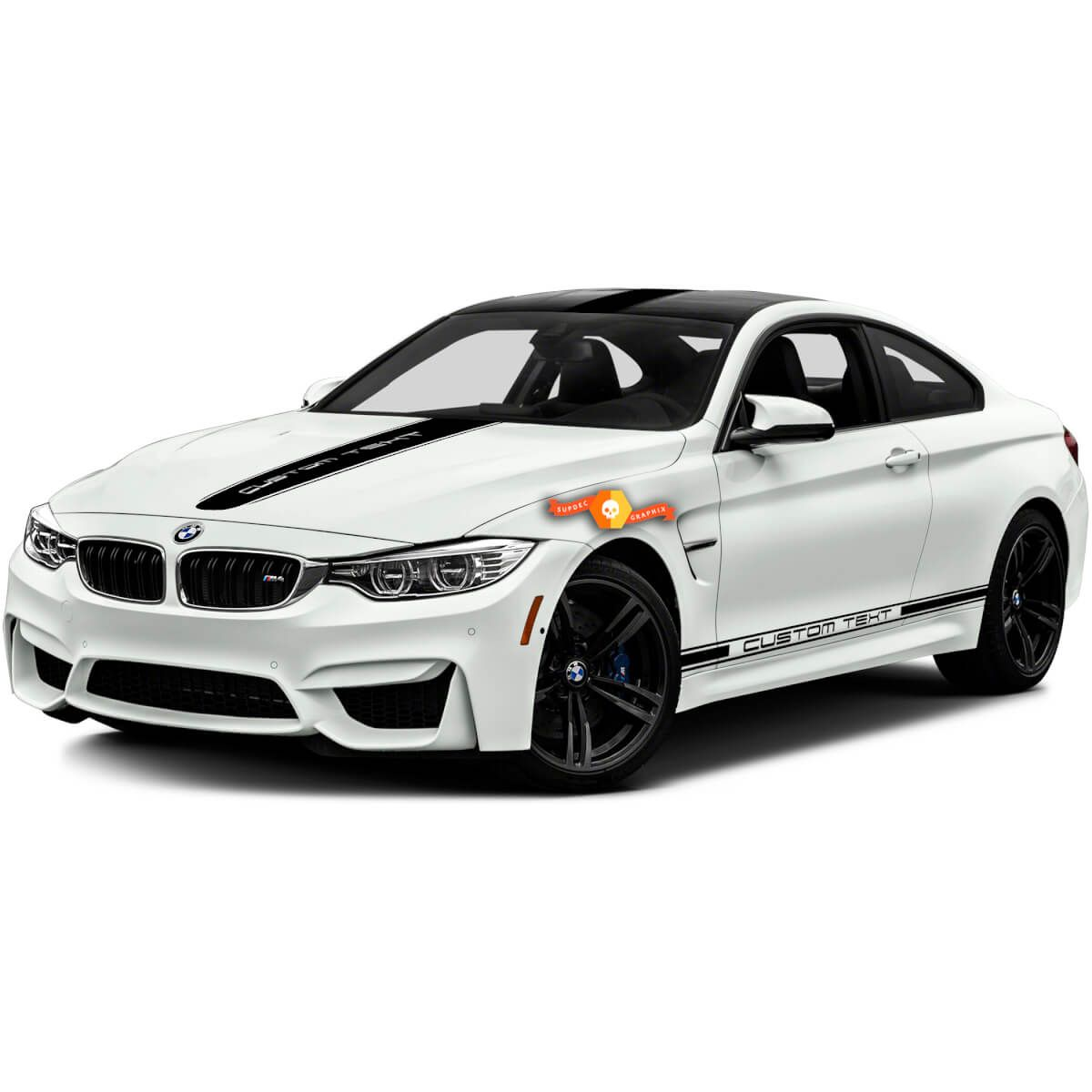 Bmw M Bmw M3 M4 One Color Racing Stripes And Hood Top Sides Vinyl Decals Stickers Racing Stripes Bmw Bmw M3 [ 1200 x 1200 Pixel ]