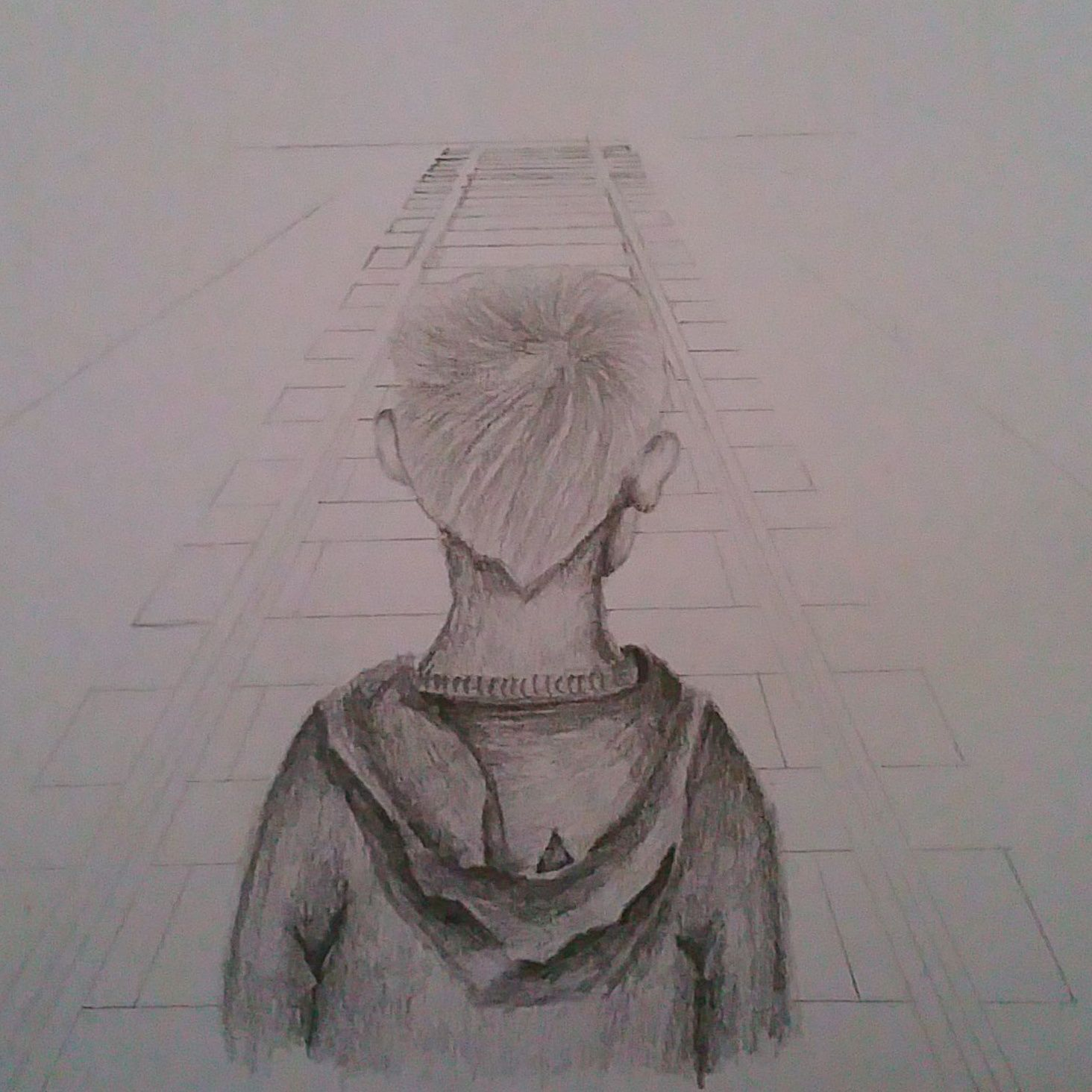 Stage 2 of my sketch theme orphans arts sketch pencil railway pennyappeal orphan competition artcompetition child shading interpretation