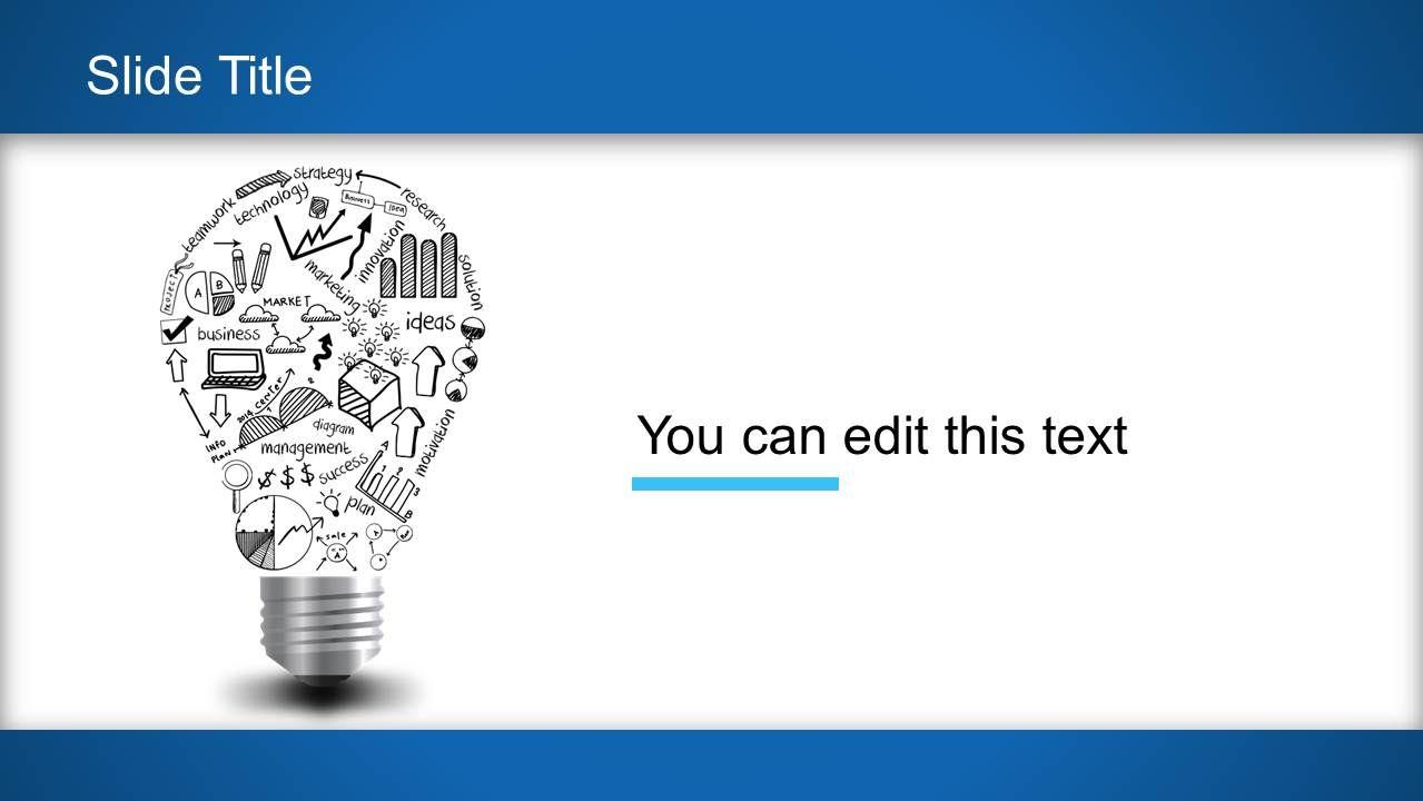 Light Bulb Idea Powerpoint Template Powerpoint Templates
