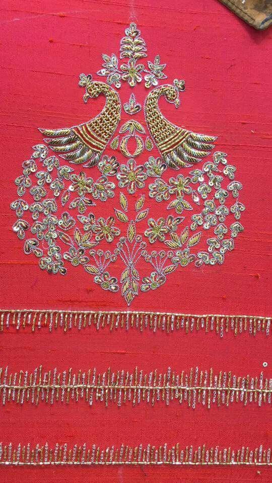 Pin de siri Kamesh en Embroidery gota zardozi dhanka   Pinterest ...
