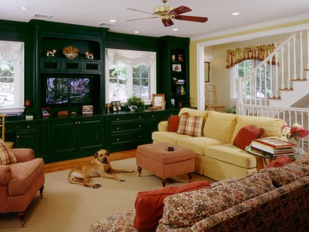 "Traditional Living Room Is Family Friendlydesigner's Notes ""a Amazing Den Living Room 2018"