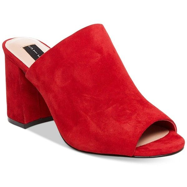 Steven By Steve Madden Women's Fume Peep-Toe Mules - Red