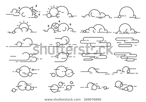 Vector Linear Clouds Stock Vector (Royalty Free) 269076890