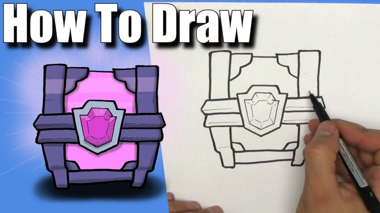 How To Draw a Magical Chest from Clash Royale!- EASY - Step By Step