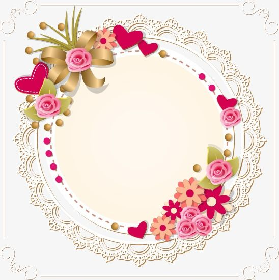 Heart Shaped Lace Border Lace Border Lace Vector Border Vector Png Transparent Clipart Image And Psd File For Free Download Flower Frame Watermark Ideas Lace Painting