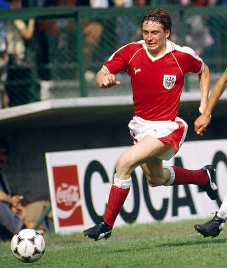 Bernd Krauss Of Austria In Action At The 1982 World Cup Finals 1982 World Cup National Football Teams Cup Final