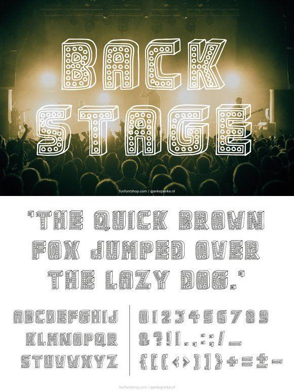 Backstage handmade Font. Display Fonts. $15.00