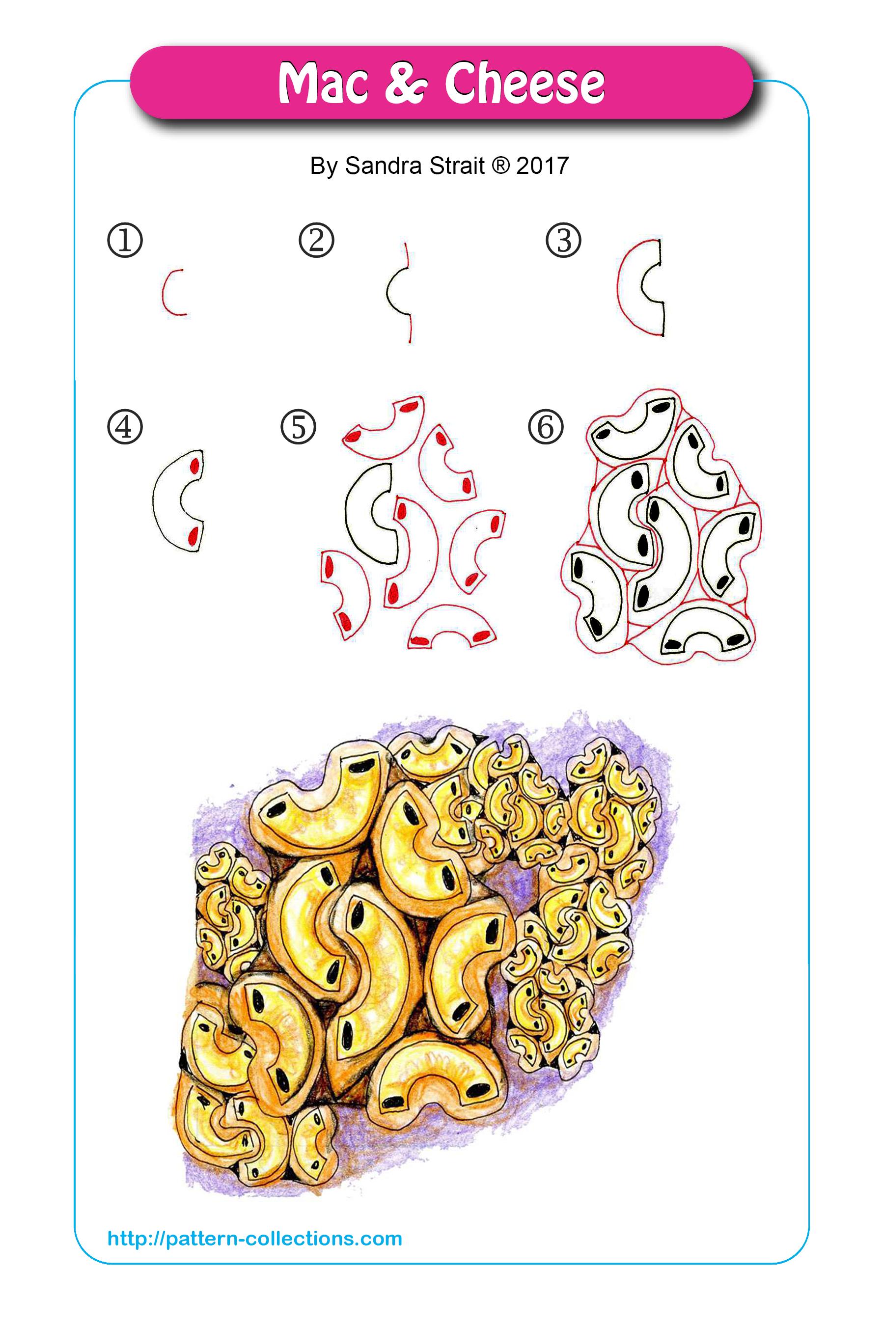 M Zentangle Muster Muster Malen Zeichnen