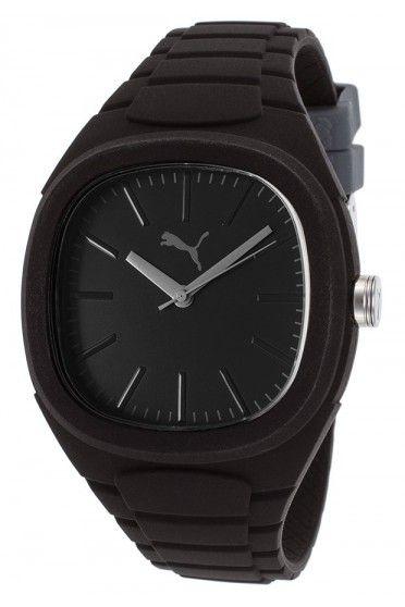 ساعات يد Lagaina Black Rubber Watches For Men Cool Watches