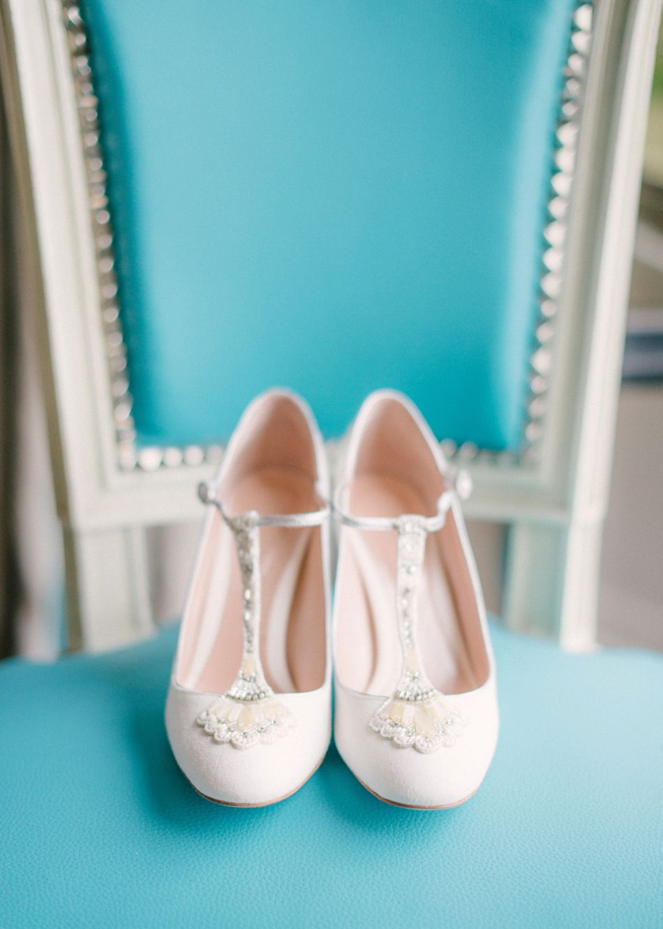 A blush and white springtime wedding in france wedding shoes