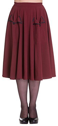 Hell Bunny Ellie May Skirt 2X Burgundy -- Read more reviews of the product by visiting the link on the image.