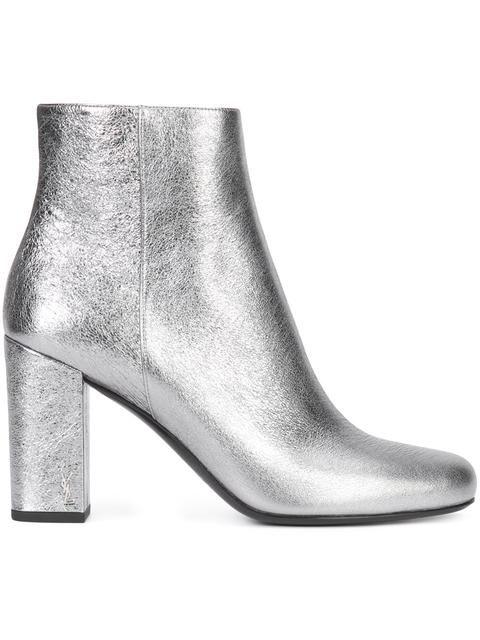 SAINT LAURENT Babies 90 Ankle Boots. #saintlaurent #shoes #boots