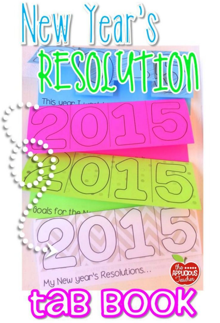 New Year's Resolution 2020 &2021 Tab Book (With images