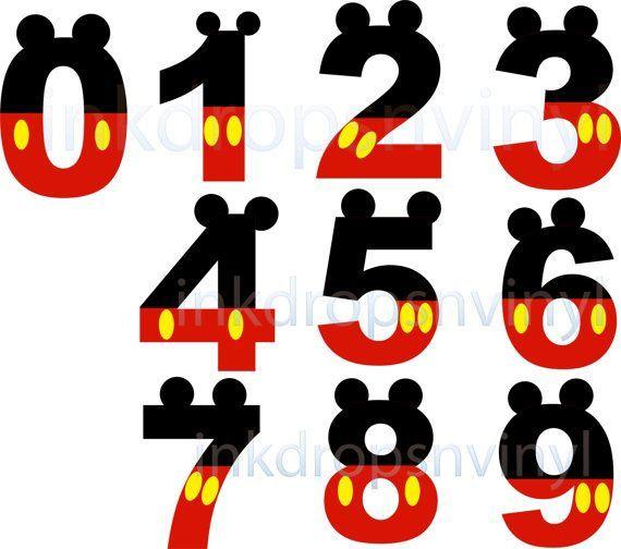 numeros mickey mouse para imprimir - Buscar con Google | MATEMATICAS ...