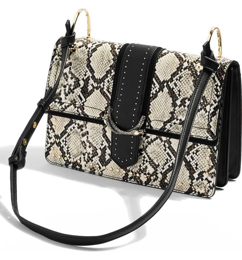 first look premium selection sale usa online Suri Snake Effect Shoulder Bag, Alternate, color, BLACK MULTI ...