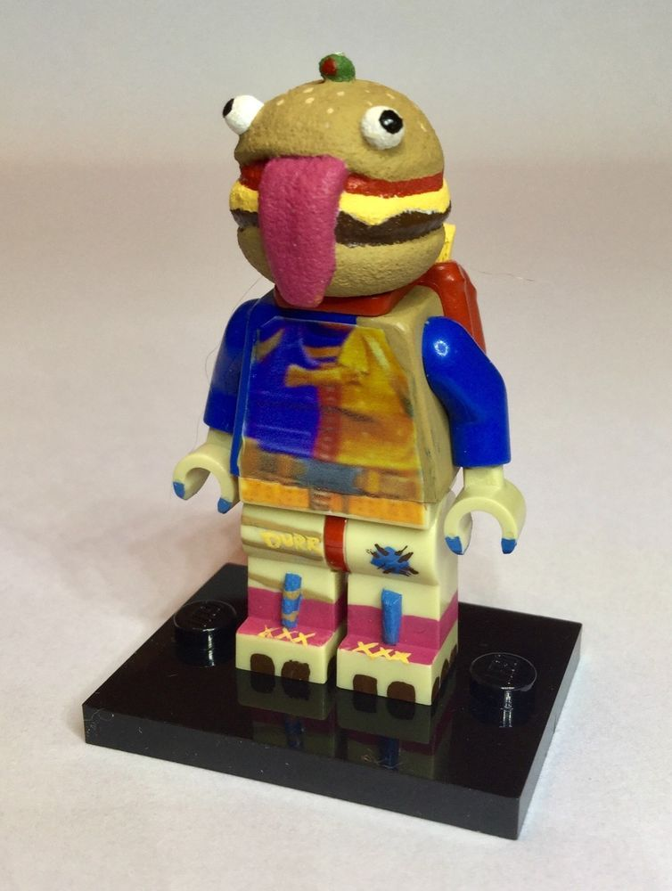 LEGO Custom Derr Burger Minifig Fortnite Battle Royale